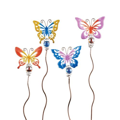 Let It Bee Butterfly Garden Picks - Set of 4
